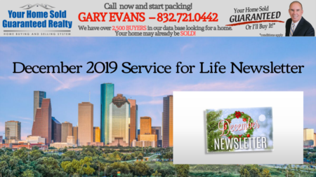 Katy Real Estate - Gary Evans - December Newsletter