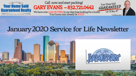 Katy Real Estate - Gary Evans - January Newsletter