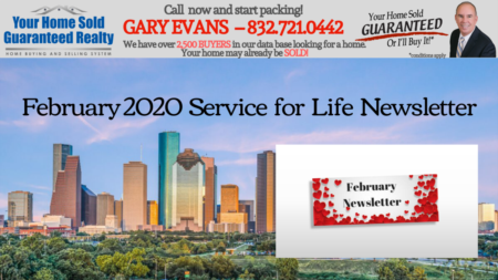 Katy Real Estate - Gary Evans - February Newsletter