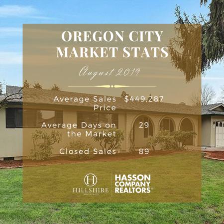Oregon City Real Estate Market Update | August 2019