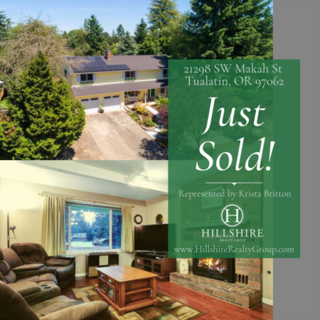 Just Sold! 21298 SW Makah St, Tualatin, OR 97062