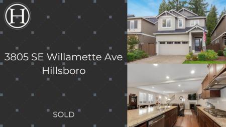 Just Sold! 3805 SE Willamette Ave Hillsboro OR