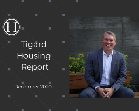 Tigard Housing Report for December 2020