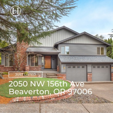 Just Listed! 2050 NW 156th Ave Beaverton, OR