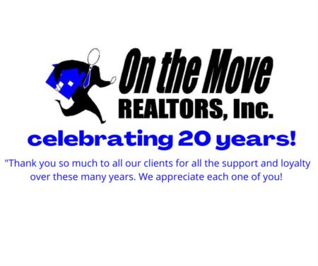 On the Move Realtors Celebrates 20 Years!