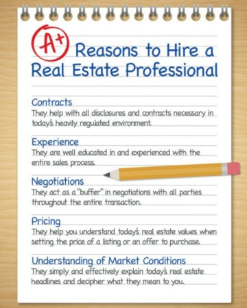 A+ Reasons to Hire a Real Estate Pro [INFOGRAPHIC]