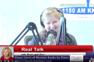 Eileen Vierra with Memory Books by Eileen - RealTalk w/ Brian & Dan Ep 45