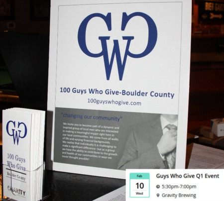 Join 100 Guys Who Give- Boulder County