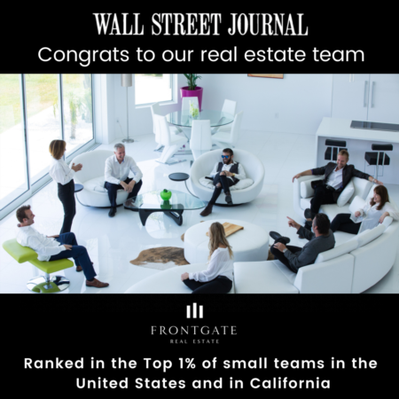 Frontgate Real Estate Ranked in the Top 1% by The Wall Street Journal and Among Top 50 Teams in the Nation