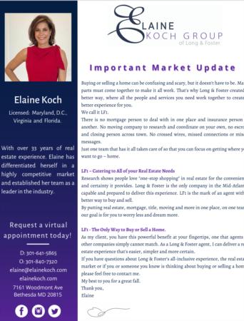 Elaine Koch October Newsletter