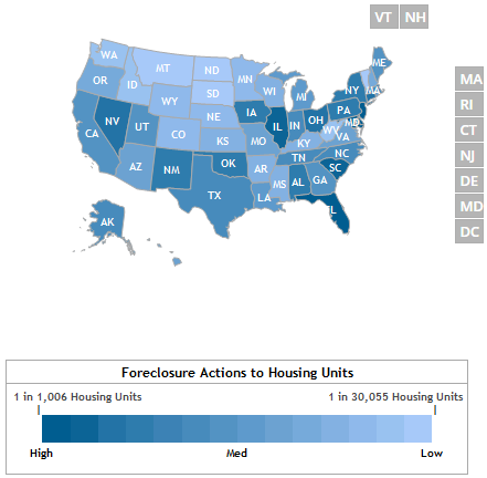 Foreclosures Up MoM