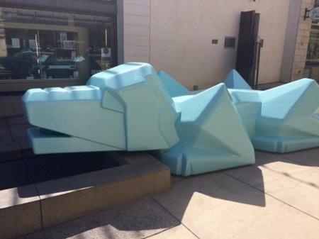 Metlox 'Blue Dog' Honors Manhattan Beach History