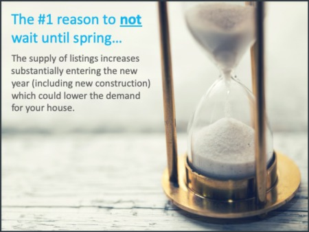 The #1 Reason To NOT Wait Until Spring....