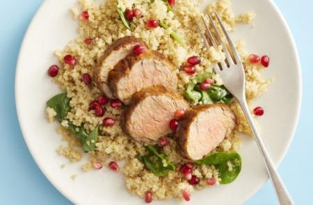 Easy Dinner Recipe Of The Week ~ Pork Tenderloin With Quinoa Pilaf