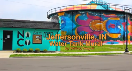 Water Tank Mural In Jeffersonville