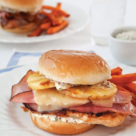 Easy Dinner Recipe Of The Week ~Grilled Chicken and Pineapple Sandwiches with Sweet Potato Fries