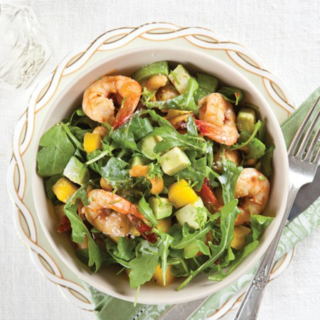 Easy Dinner Recipe Of The Week ~Shrimp, Avocado, and Mango Salad
