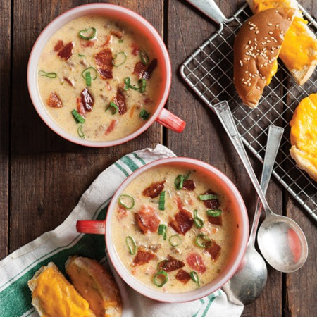 Easy Dinner Recipe Of The Week ~ Bacon Cheeseburger Soup