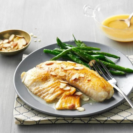 Easy Dinner Recipe Of The Week ~ Lemon-Butter Tilapia with Almonds