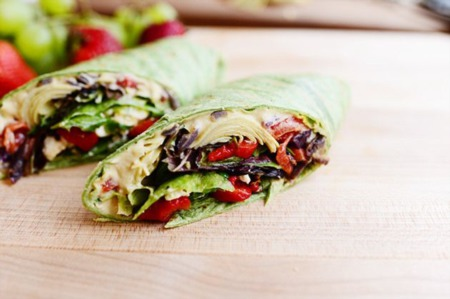 Easy Dinner Recipe Of The Week ~ Heavenly Hummus Wrap