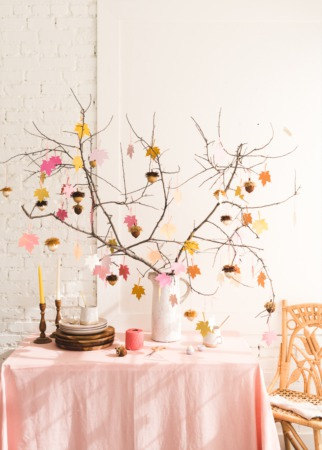Gratitude Tree with Acorn Favors