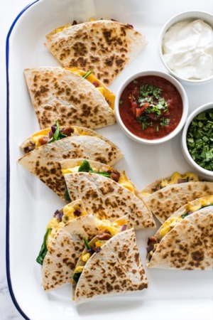 Easy Dinner, Breakfast, Brunch Recipe ~ BREAKFAST QUESADILLAS
