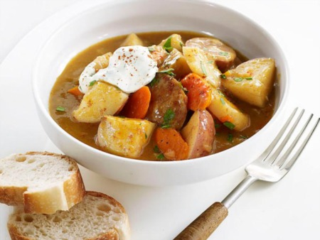 Easy Dinner Recipe Of The Week ~ Sausage-and-Vegetable Stew