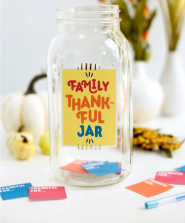 Be Thankful All Year Long ~ Make A Thankful Jar