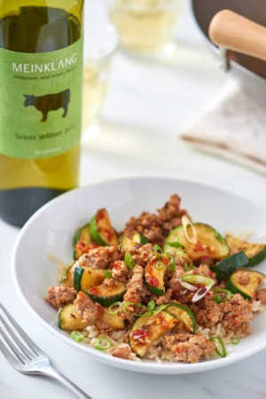 Easy 'Budget Friendly' Dinner Recipe Of The Week ~  Spicy Ground Pork & Zucchini Stir-Fry
