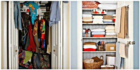 TUESDAY'S TIP-DECLUTTERING YOUR CLOSETS