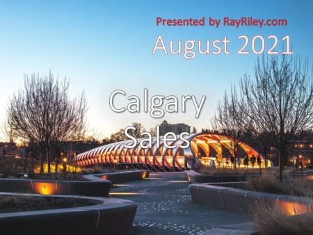 Calgary Home Sales Update August 2021