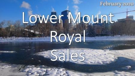 Lower Mount Royal Housing Market Update February 2020