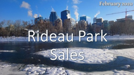 Rideau Park Housing Market Update February 2020