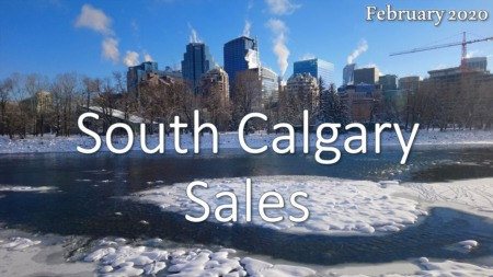 South Calgary Housing Market Update February 2020