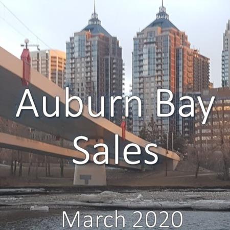 Auburn Bay Housing Market Update. March 2020