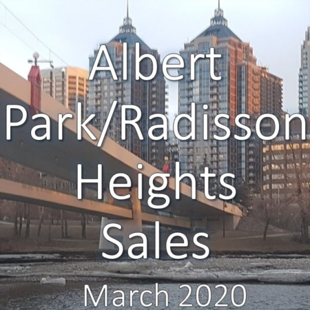 Albert Park/Radisson Heights Housing Market Update March 2020