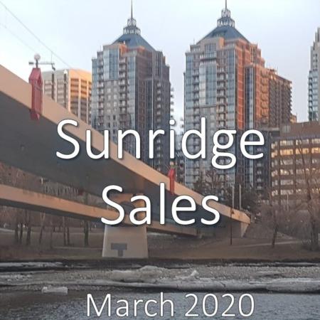 Sunridge Housing Market Update. March 2020