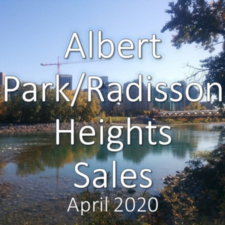 Albert Park/Radisson Heights housing market update. April 2020