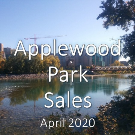 Applewood Park housing market update. April 2020