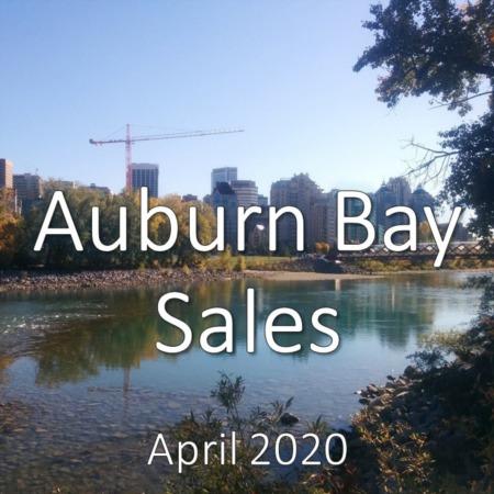 Auburn Bay housing market update. April 2020