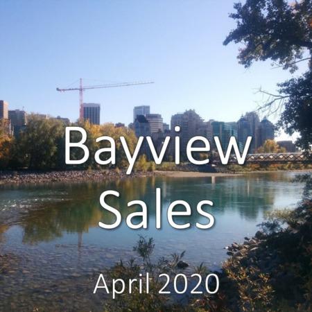 Bayview housing market update. April 2020
