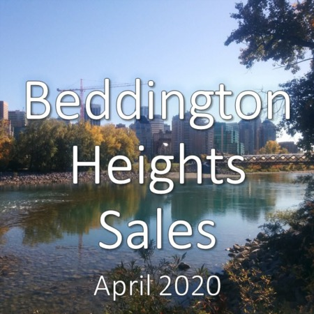 Beddington Heights housing market update. April 2020