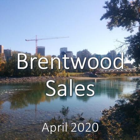 Brentwood housing market update. April 2020