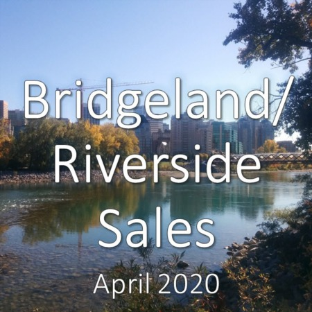 Bridgeland/Riverside housing market update. April 2020