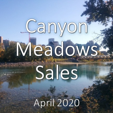 Canyon Meadows housing market update. April 2020