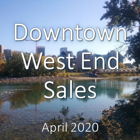 Downtown West End Housing Market Update. April 2020
