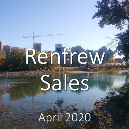 Renfrew Housing Market Update. April 2020