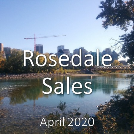 Rosedale Housing Market Update. April 2020