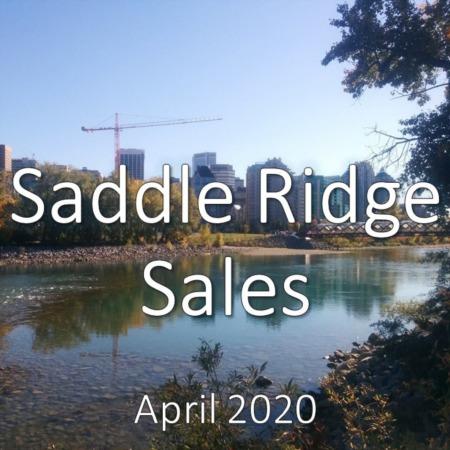 Saddle Ridge Housing Market Update. April 2020
