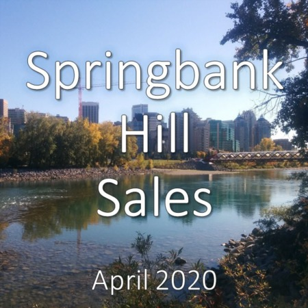 Springbank Hill Housing Market Update April 2020